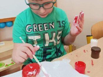 Grzybki w wykonaniu dzieci z Oddziału Przedszkolnego